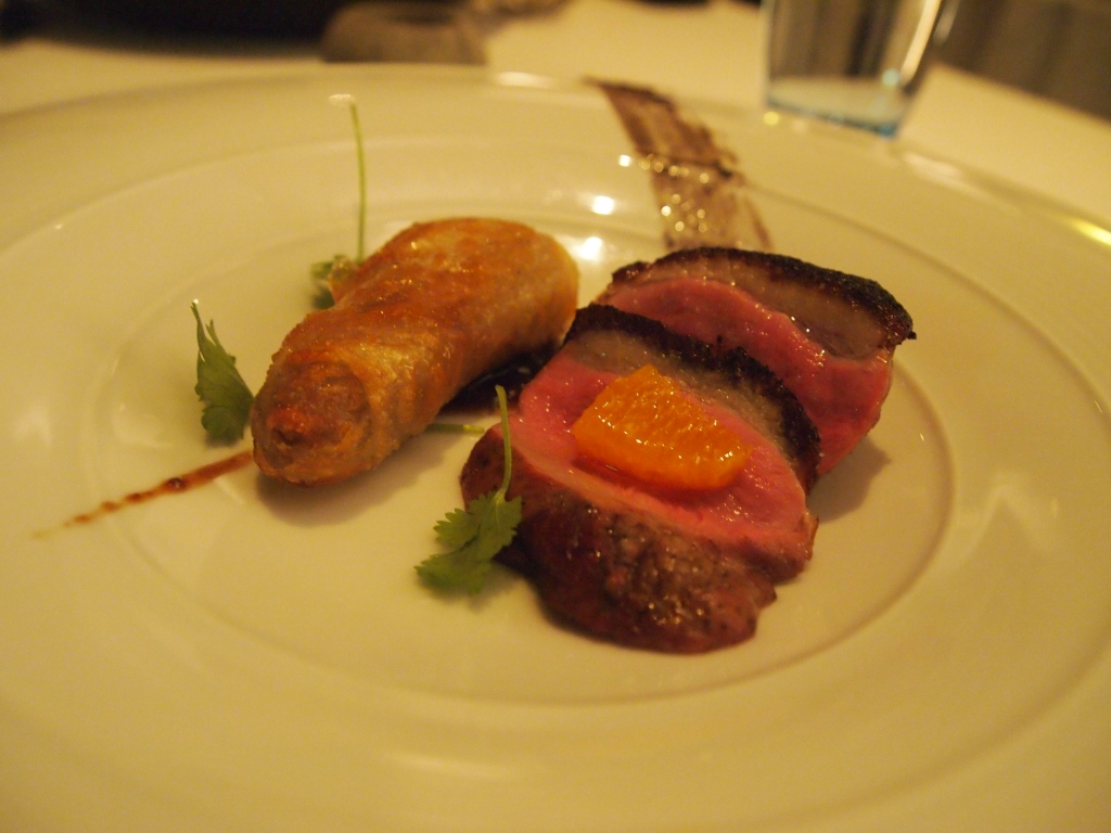 Loves... Smoked duck, confit duck spring roll,