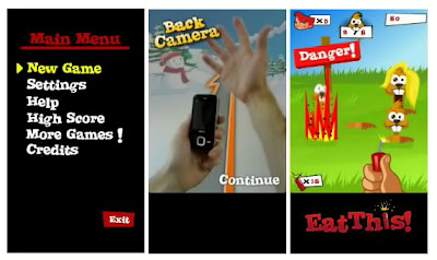 Eat this is a fun game for touch screen phones