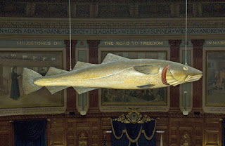 Sacred Cod, Boston, Massachusetts, statehouse