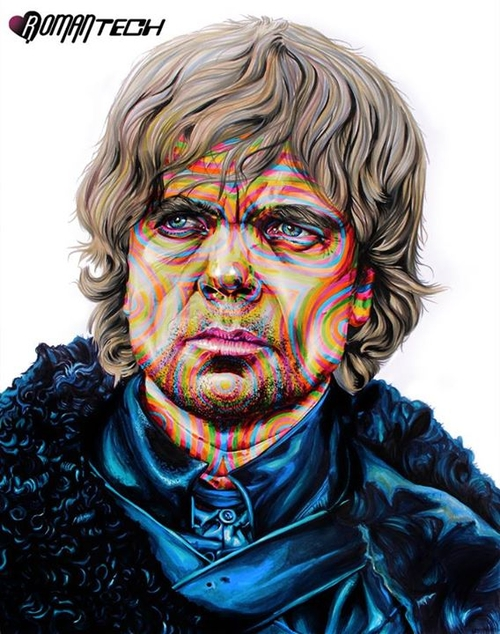 01-Peter-Dinklage-Tyrion-Lannister-Game-of-Thrones-Joshua-Roman-Rainbow-Portraits-Drawings-Illustrations-www-designstack-co