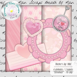 Belated Mother's Day Mini Kit freebie from Breath Of Rain Scraps