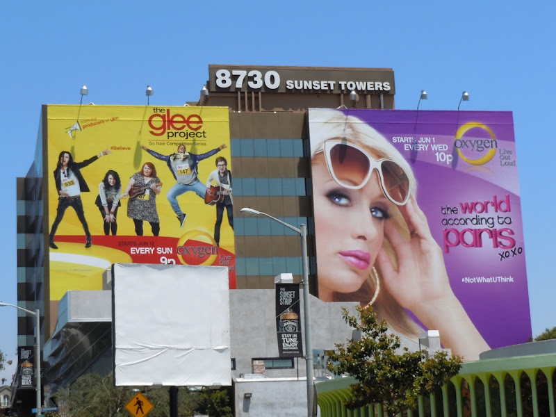 Glee Project and Paris HIlton billboards