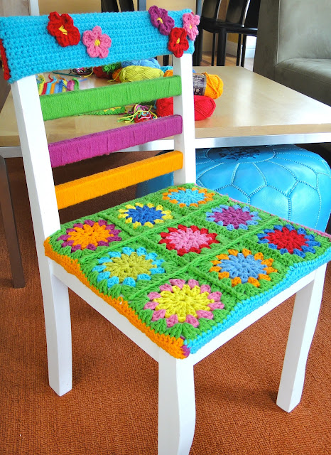 Kitchen Cotton Yarn Bombed Chair