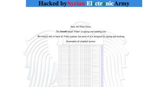viber-support-page-attacked-by-syrian-electronic-army