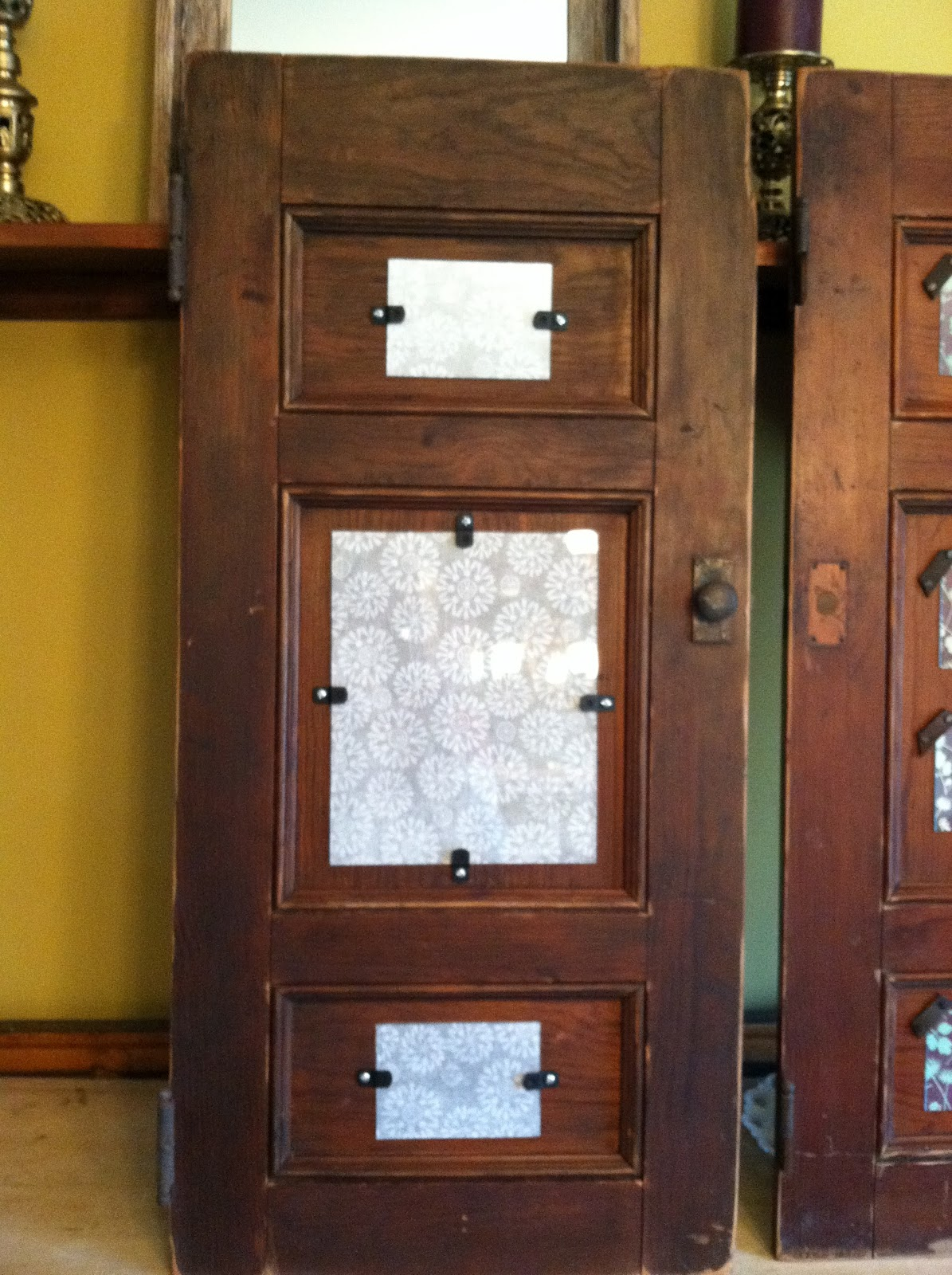 Antique Cabinet Doors Repurposed Into Picture Frames
