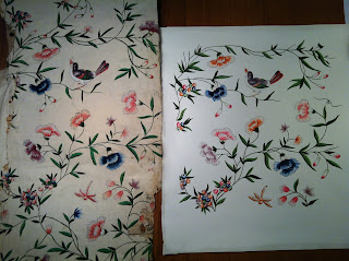Handmade Chinese wallpaper design copy