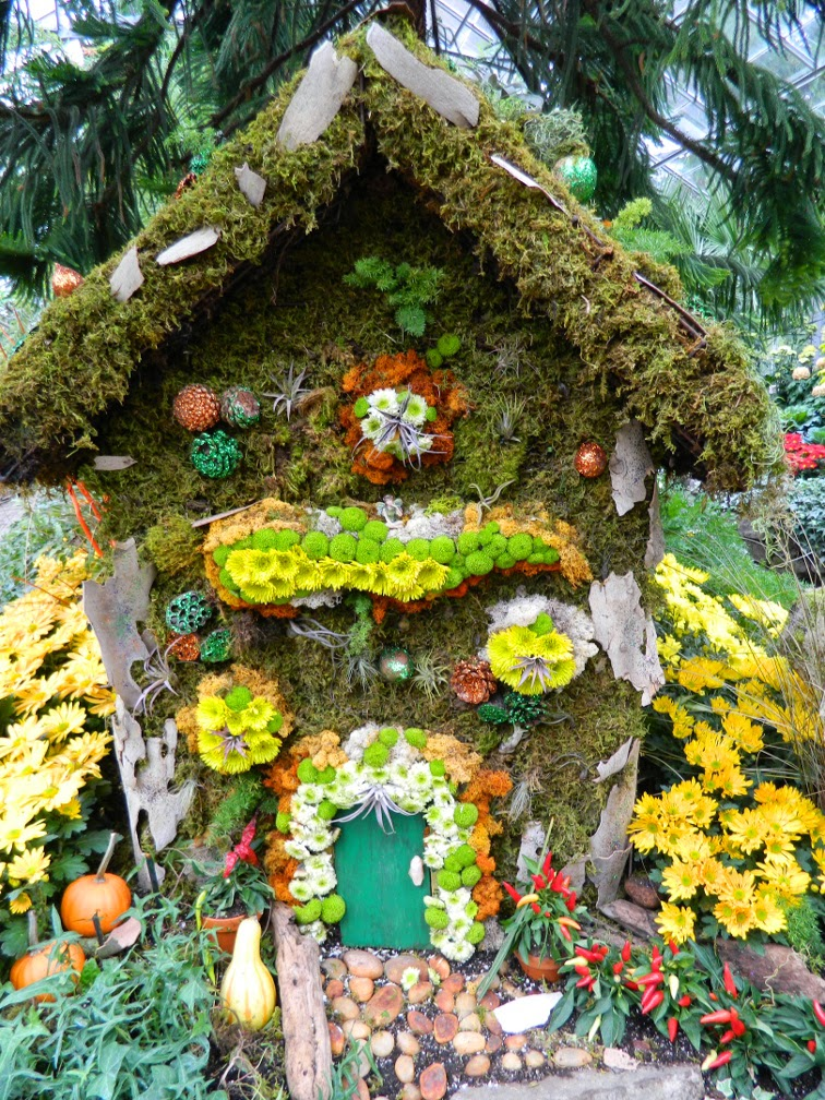 Allan Gardens Conservatory Fall Chrysanthemum Show 2014 Fairy House by garden muses-not another Toronto gardening blog