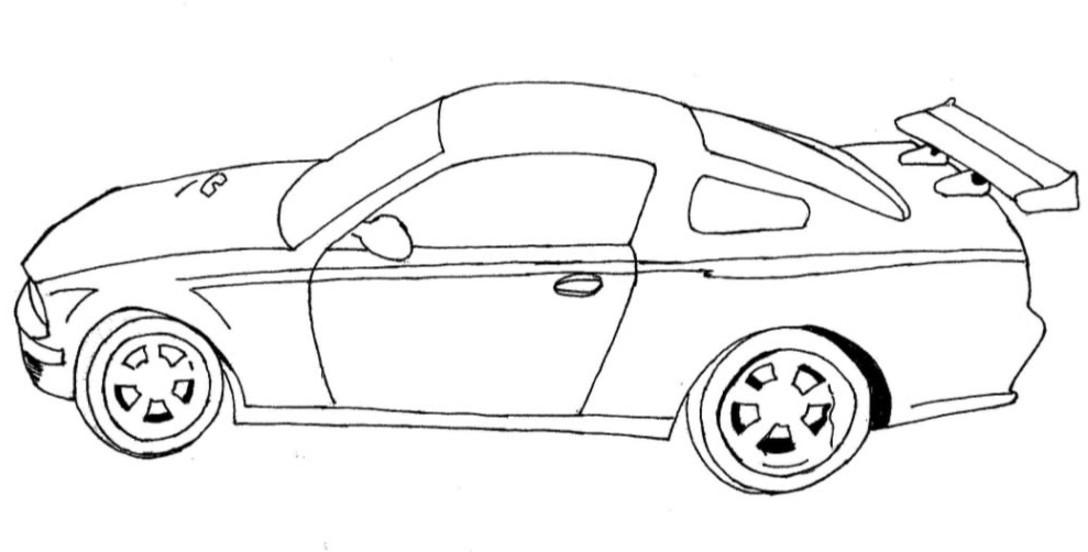 Mewarnai Mobil Sedan Mewarnai Gambar Mewarnai Gambar