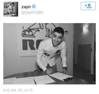 Zayn Malik officially going solo he signed with RCA music recently