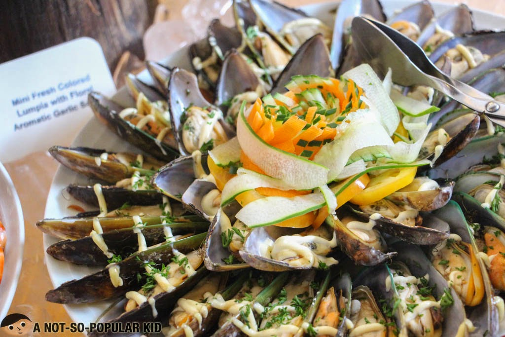 Seafood galore in F All Day Dining Restaurant -- mussels and more
