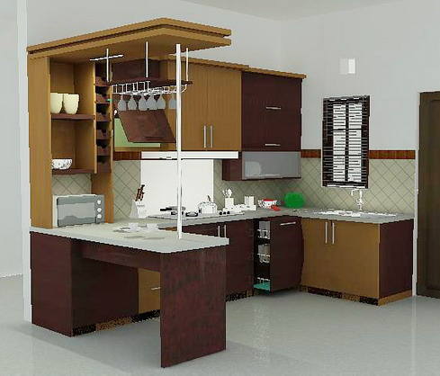 Model kitchens photos kitchen design photos 2015 for Harga kitchen set sederhana