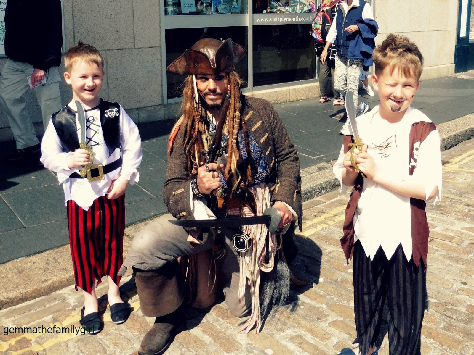 plymouth, barbican, pirate, cosplay, depp, captain, jack, sparrow, sunday, photo, blogger, parent,