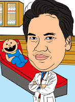 Caricature of a Dentist