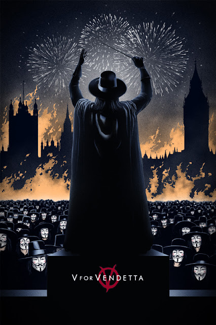 V For Vendetta Screen Print by Marko Markev