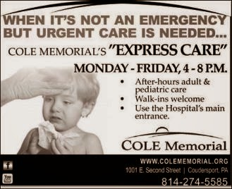 Express Care at Cole Memorial--Click On Ad For More Information