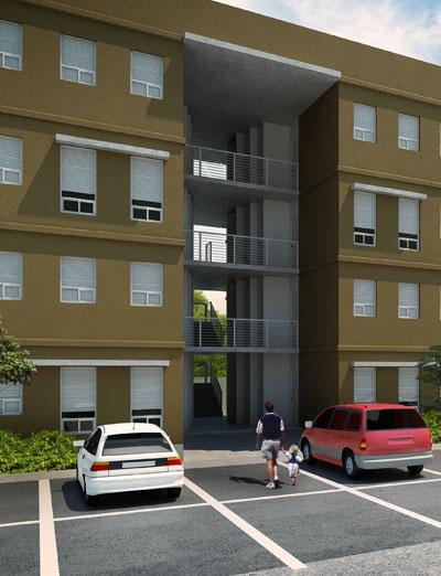 Fachadas de casas modernas fachada de departamentos modernos for Disenos de departamentos minimalistas