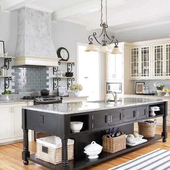 White Kitchen Black Island 25 beautiful black and white kitchens - the cottage market