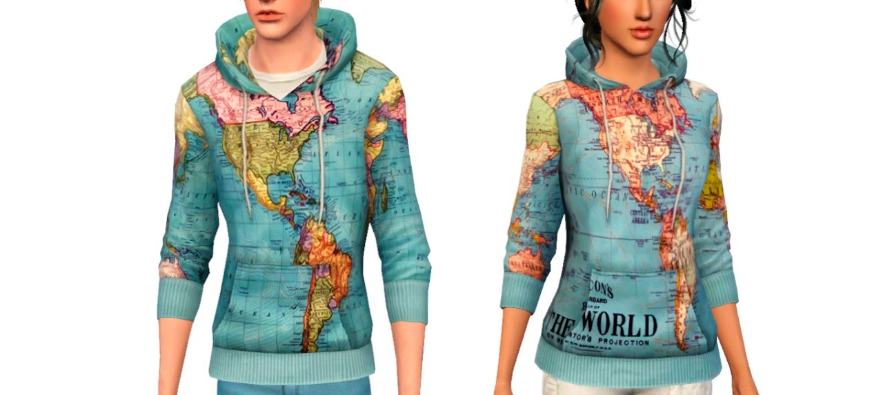 My sims 3 blog world map hoodies for males females by shokoninio my sims 3 blog gumiabroncs Choice Image