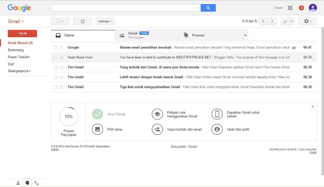 Gmail kotak masuk