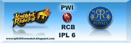IPL 6 KKR vs RR Highlight and KKR vs RR Full Scorecards