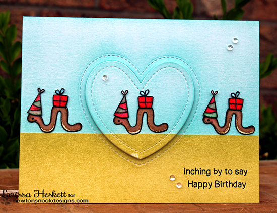 Inch Worm Birthday card by Larissa Heskett  | In Slow Motion Stamp set by Newton's Nook Designs