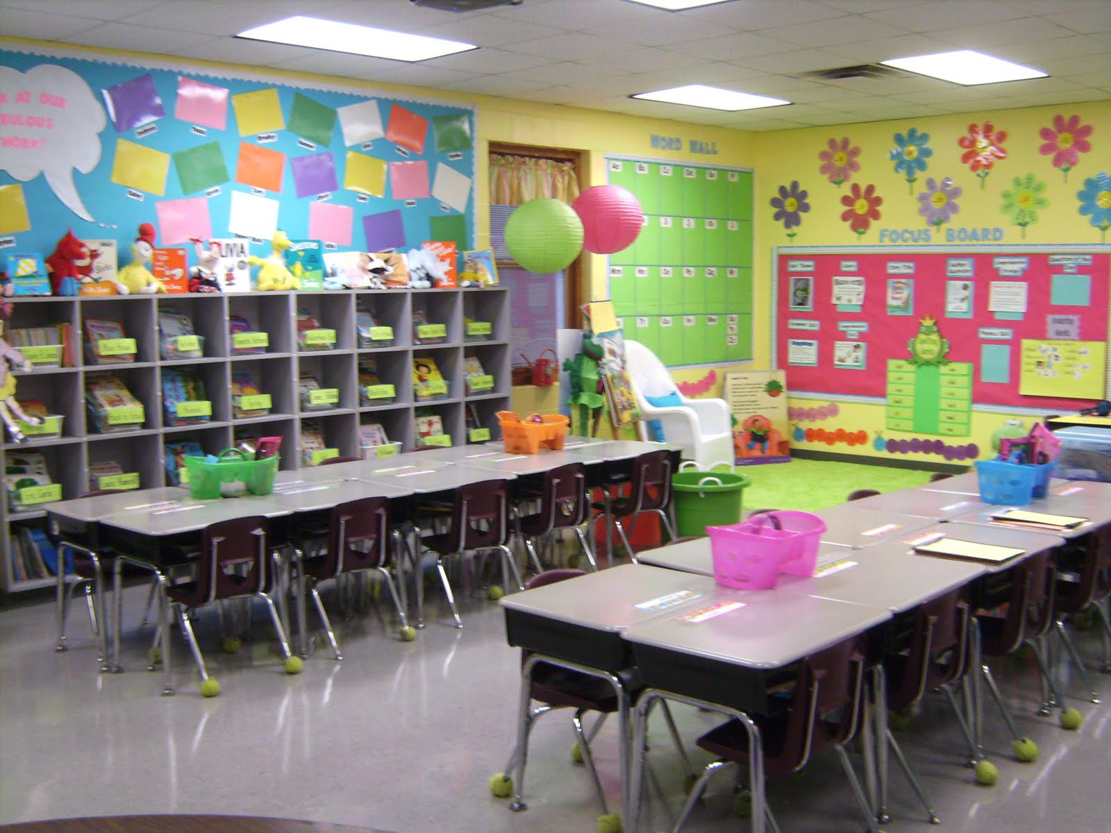 Colorful classrooms sweet ideas for the classroom for Art decoration for classroom