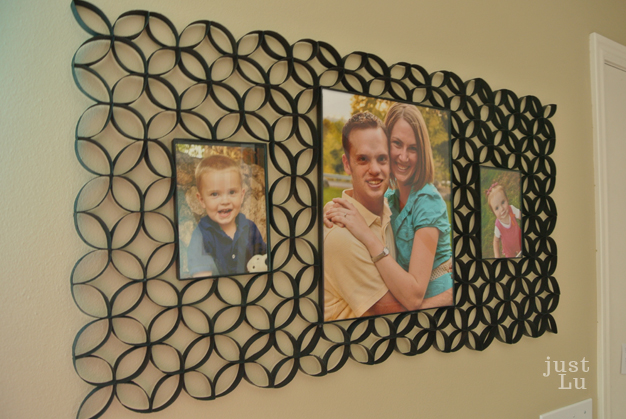 just Lu: $6 Faux Wrought Iron Triple Frame