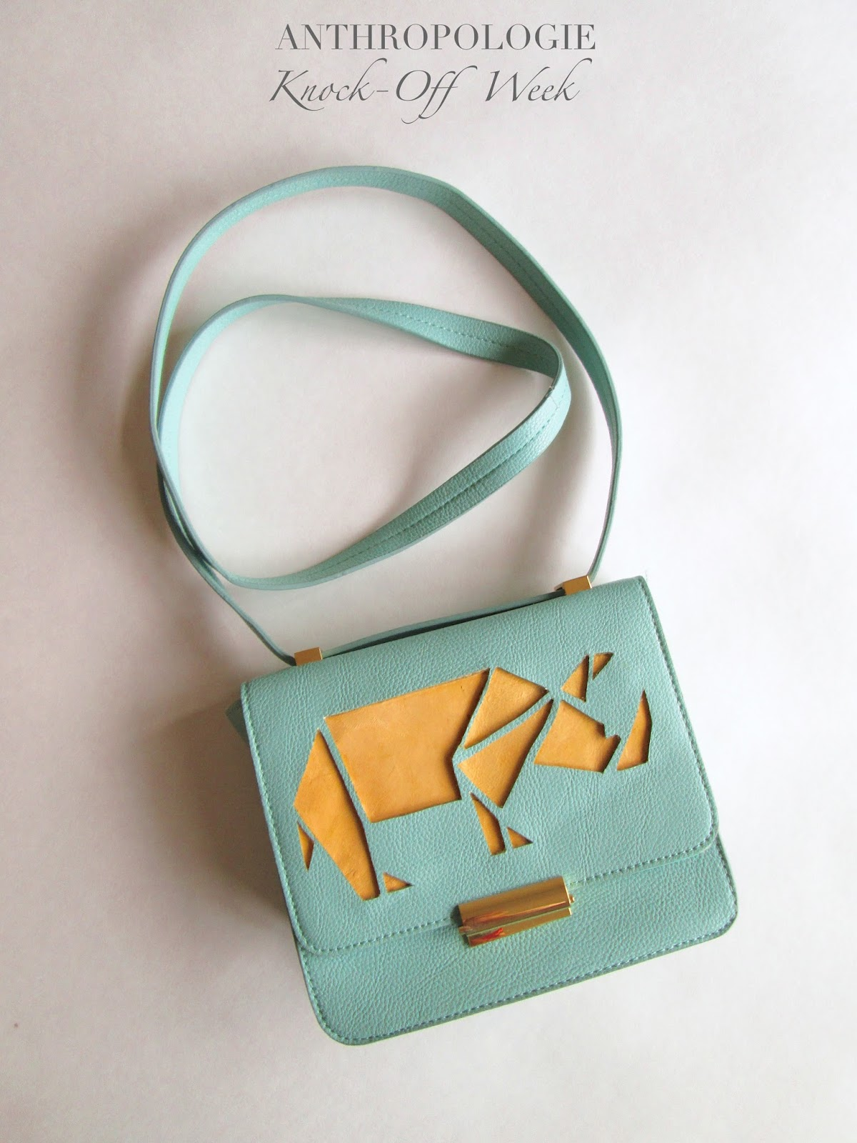 Anthropologie Knock-off Rhino Crossbody Bag