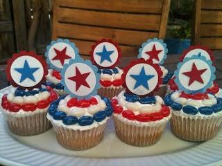 Cupcakes Capitan America, parte 2