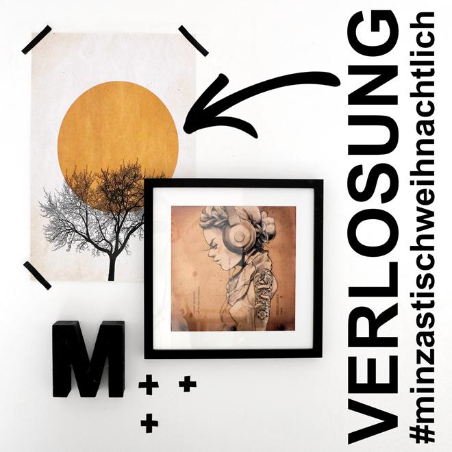 Kunst, Verlosung, Kunst gewinnen, Boris Draschoff, Wintermorgen, Give Away, Art to win, Poster, Adventsverlosung, Weihnachtsverlosung