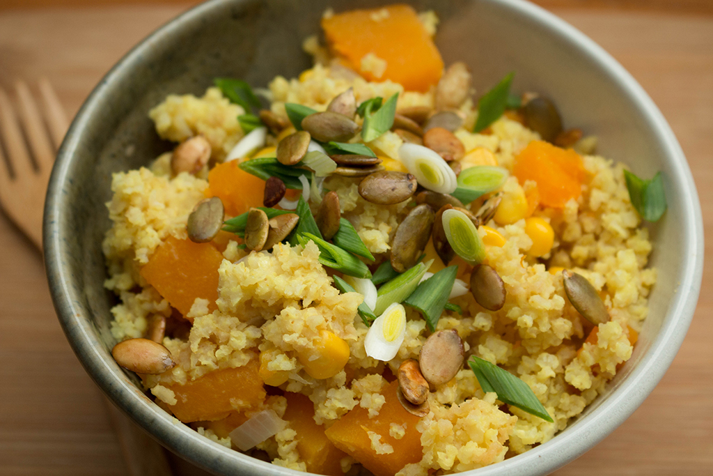 Butternut Squash and Millet Pilaf
