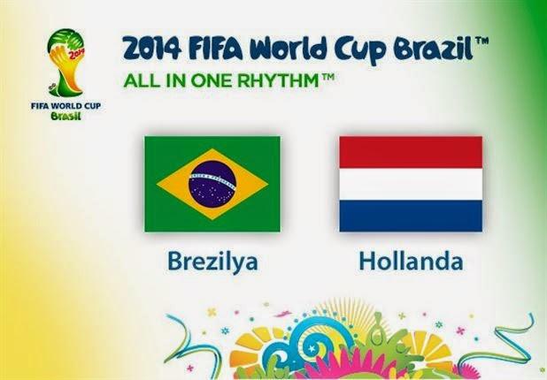 Hollanda Dünya Üçüncüsü Oldu.Brezilya Yuhalandı
