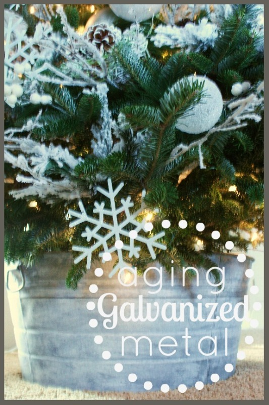 Christmas In Octopus Garden >> HOW TO AGE A GALVANIZED METAL - StoneGable