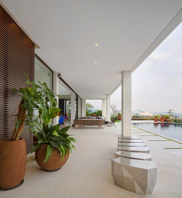 Terrace in Modern Jaragua Residence