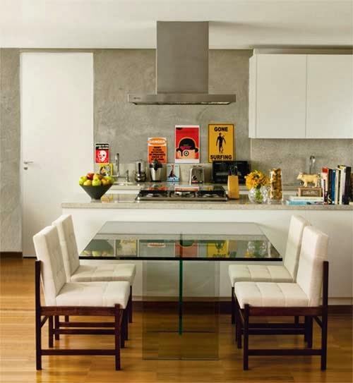 decoracao de ambientes pequenos e integrados : decoracao de ambientes pequenos e integrados:modelo de mesa para cozinha, espaço pequeno