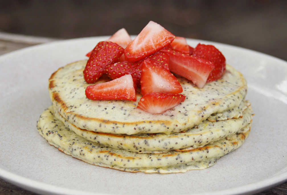 Please Note: Lemon Poppy Seed Pancakes