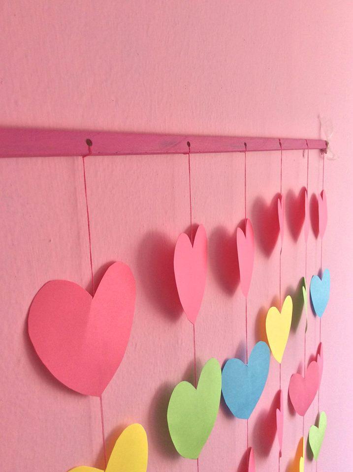 Mi casa es mi hogar cortina de corazones for Ideas para decorar mi pieza