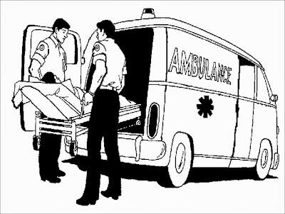 ambulance driver coloring page