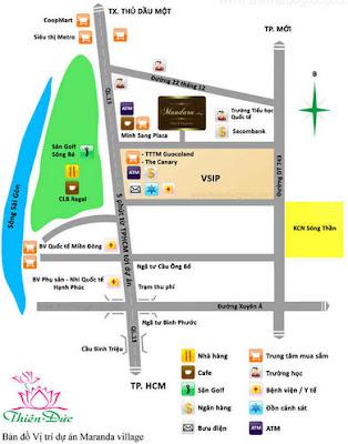 Bản đồ vị trí Du an Mandara Village