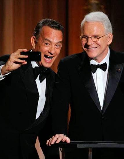 Весельчаки Том Хэнкс и Стив Мартин на вручении Оскара 2013
