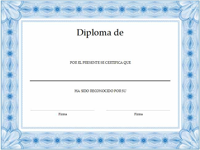 Formato para crear diplomas | Wikisabios