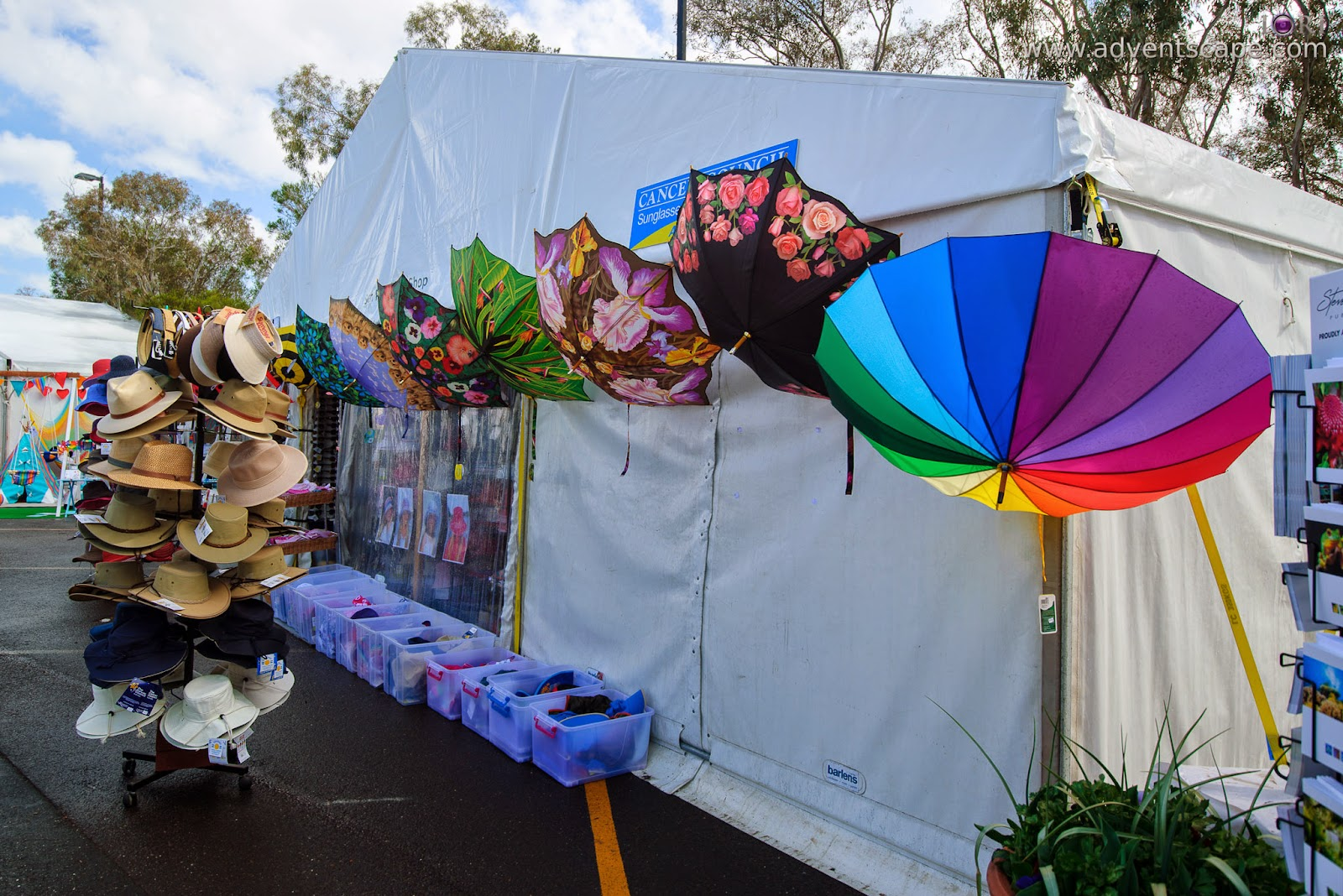 Philip Avellana, iori, advenscape, Floriade, 2014, spring festival, Canberra, ACT, Australian Capital Territory, park, flowers, blossom, merchant, umbrella