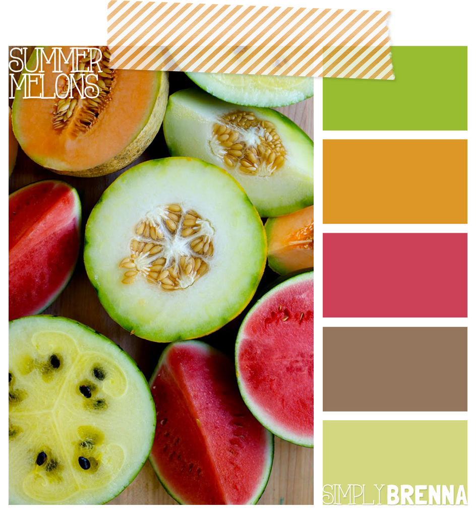 simply brenna color palettes summer melon perfect palettes