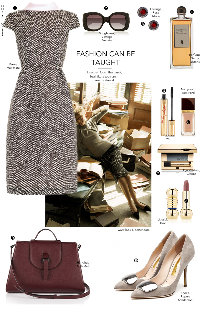 n outfit idea for an elegant teacher, business lunch, theatre or dinner with a special someone. Elegant and timeless. via look-a-porter.com, style & fashion blog