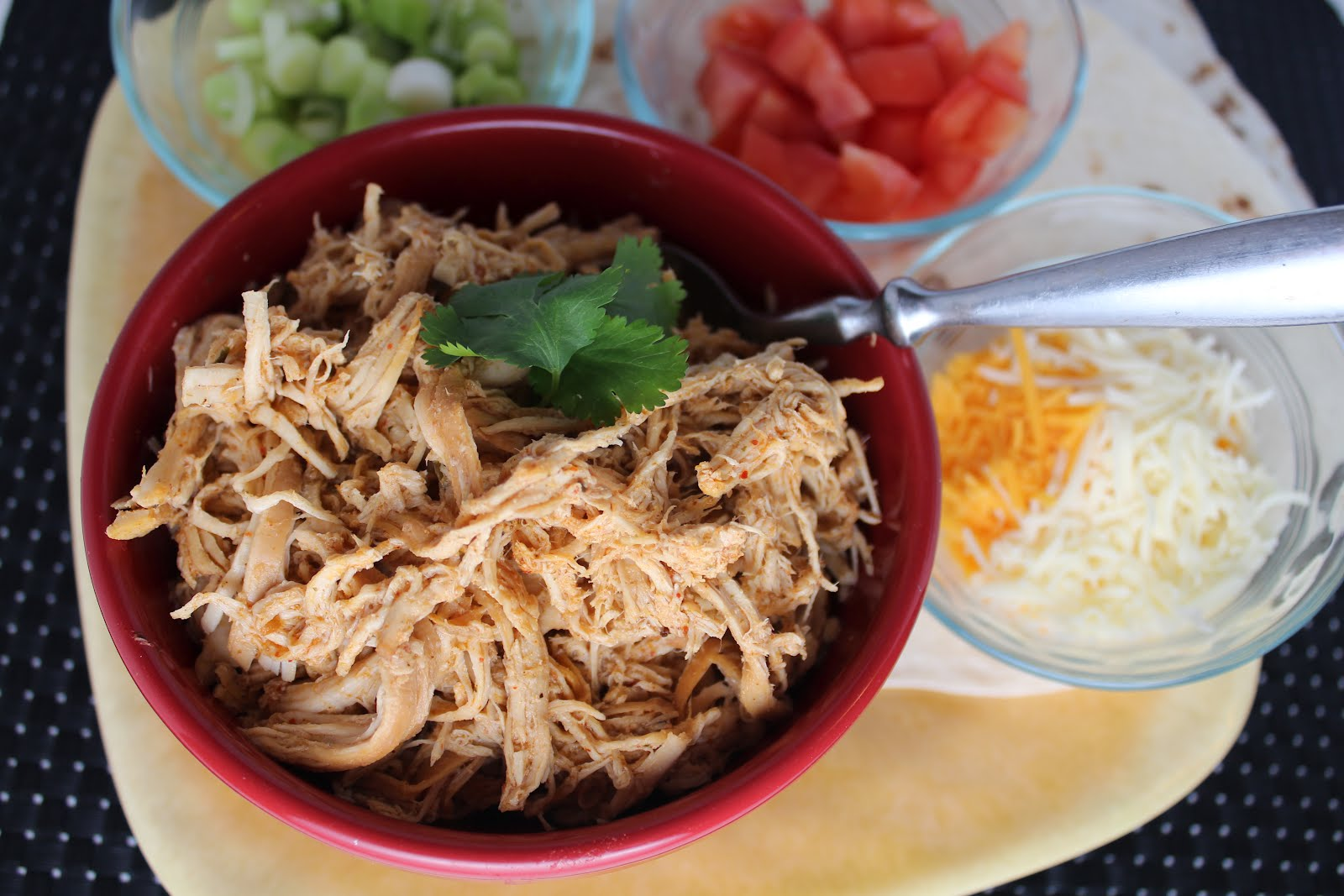 Crock Pot Cafe Rio Copycat Shredded Chicken - Yummy Healthy Easy