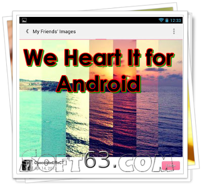 We Heart It for Android 2.3.4