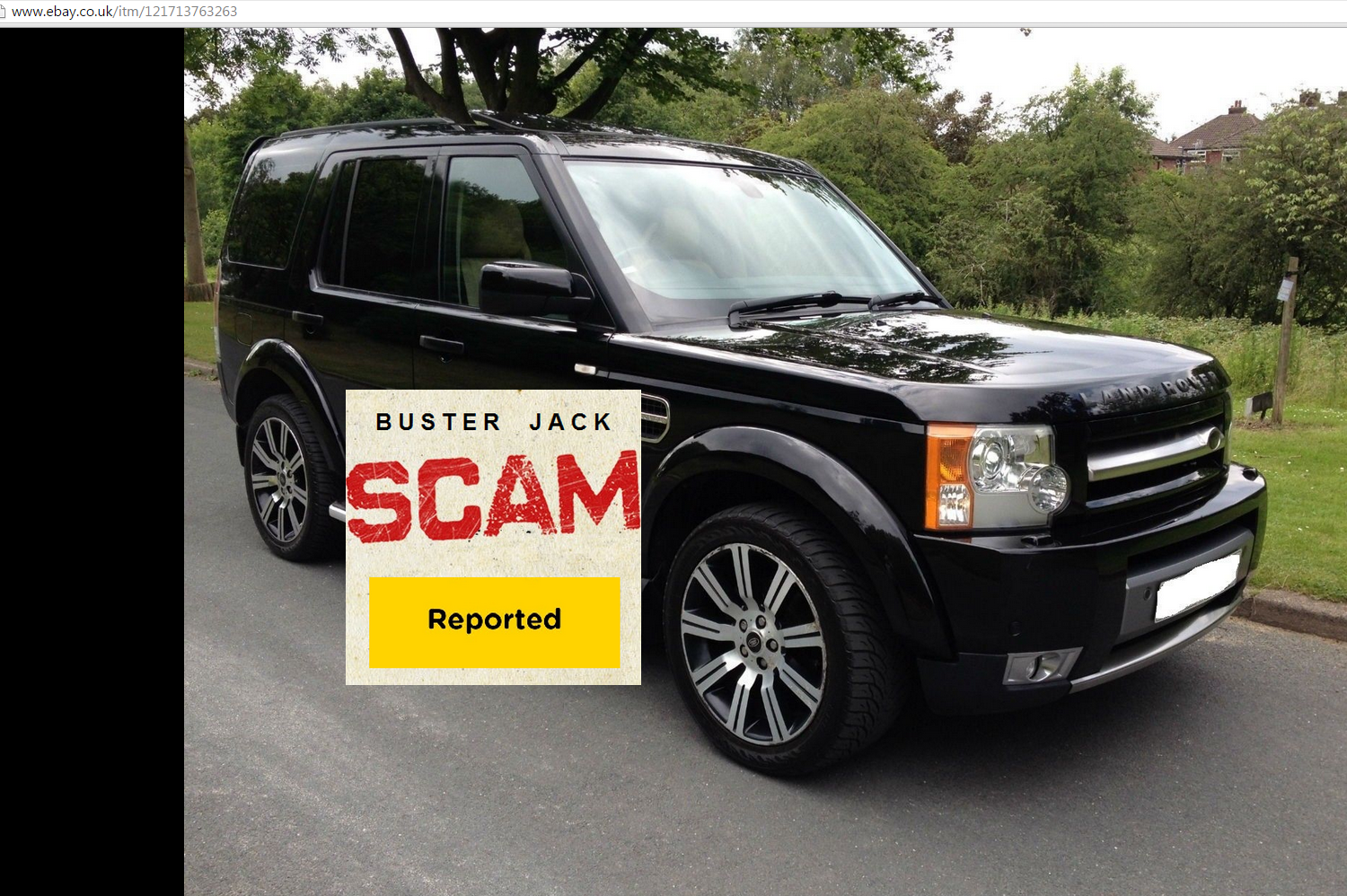 EBAY SCAM : 2OO5 LAND ROVER DISCOVERY 3   EO05ENF - Fraud - EO05 ENF