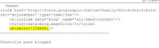 código para insertar antes de ... los metatags que posicionan el post de un blog blogger