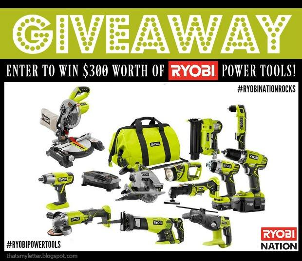 Ryobi Power Tools Giveaway!