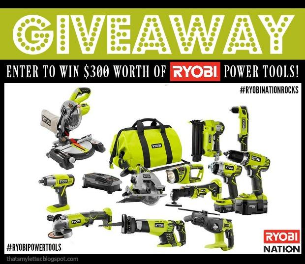 Ryobi Power Tools Giveaway!